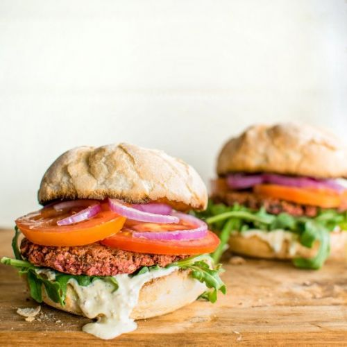 Chickpea and Beetroot Burgers