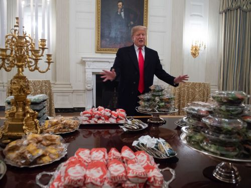 The Best Reactions to Donald Trump's 'Hamberder' Feast for Clemson Players