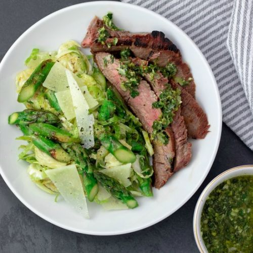Asparagus & Manchego Steak Salad