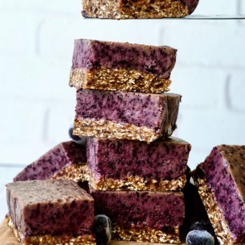 No Bake Blueberry Coconut Bliss Bar