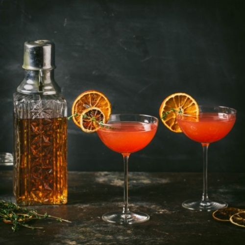 A Fig and Rye Cocktail