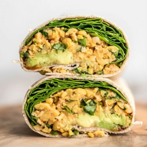 Spicy Chickpea Wraps