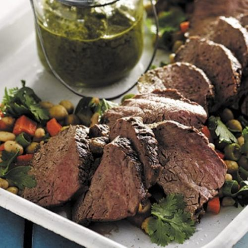 Argentinean steak with chimichurri