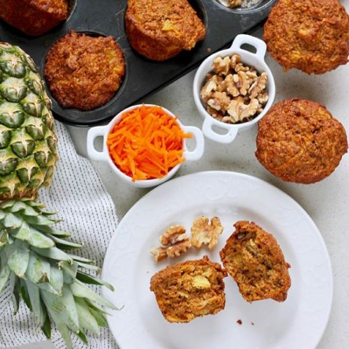 Carrot Pineapple Muffins