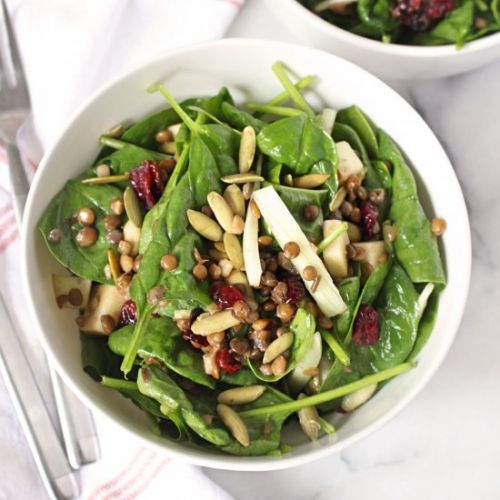Fall Spinach & Apple Salad