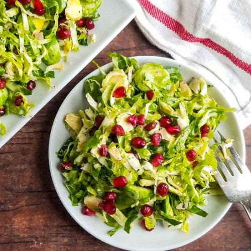 Brussels Sprouts & Pomegranate Salad