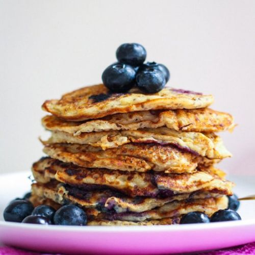 Chia Blueberry Pancakes