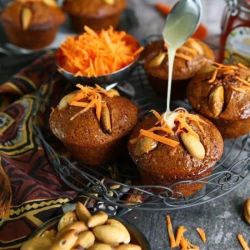 Turmeric Carrot Honey Muffins with