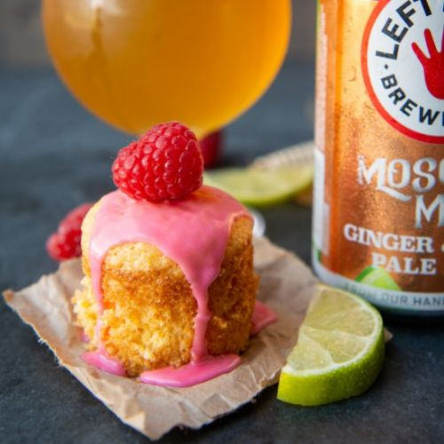 Mini Lime Olive Oil Beer Cakes