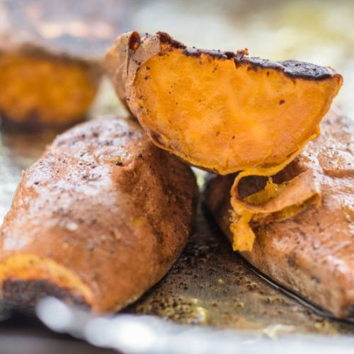 Sweet and spicy roast sweet potato