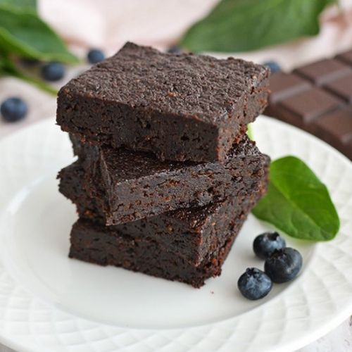 Blueberry & Spinach Brownies