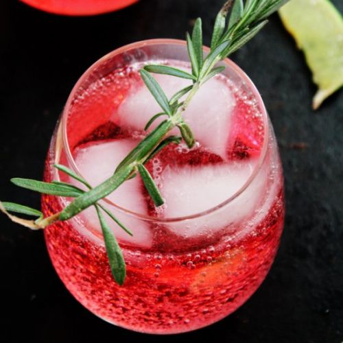 Sparkling Cranberry Lime Cocktails