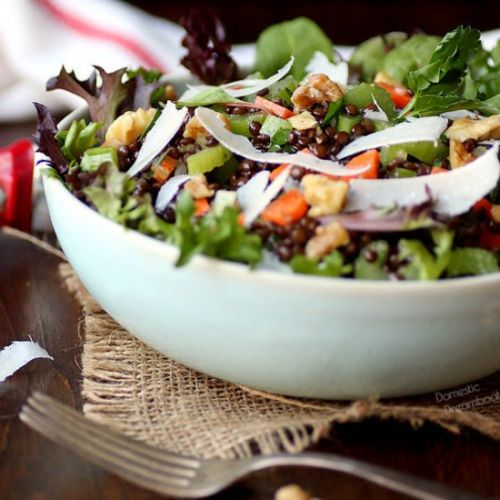Black Lentil and Celery Salad