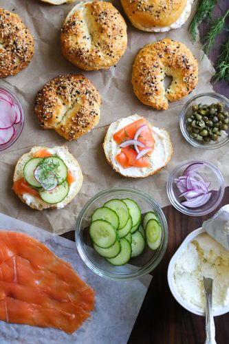 How To Setup an Easy Bagel Bar Brunch