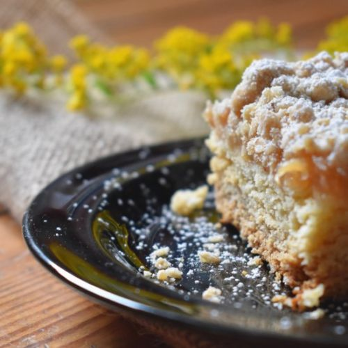 Apple and Peach Cake with Woodruff