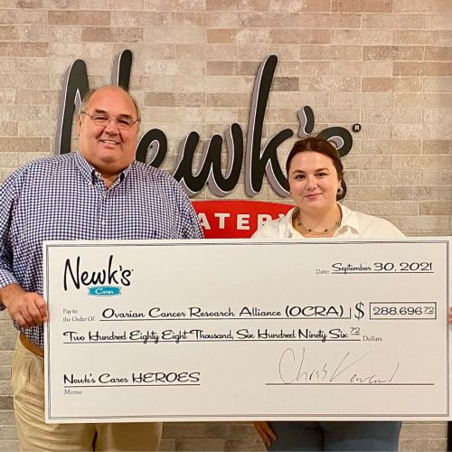Newk's Eatery Donates More Than $288,000 to Ovarian Cancer Research Alliance