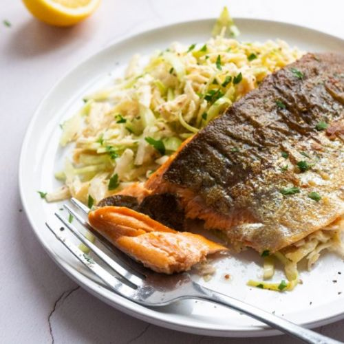 Vegetable Remoulade With Trout