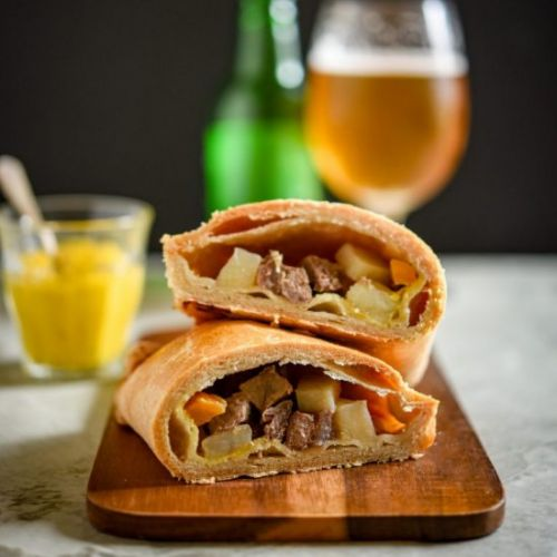 Steak, Swede and Mustard Pasties