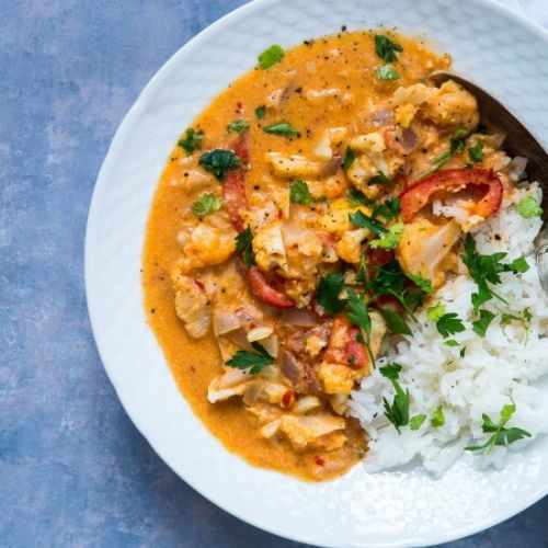 Red curry with cauliflower