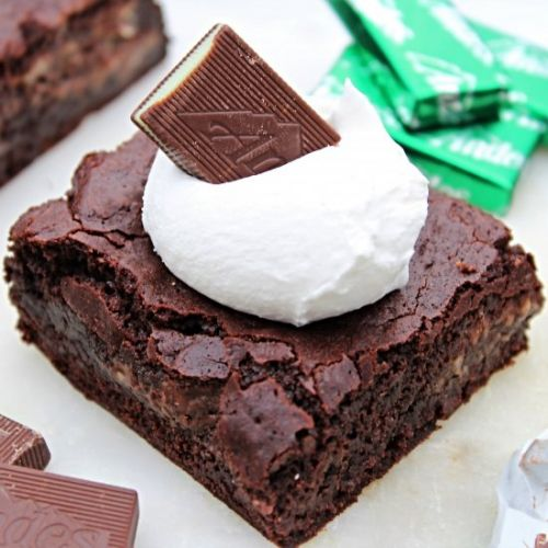 Gluten Free Mint Brownies -Egg Free