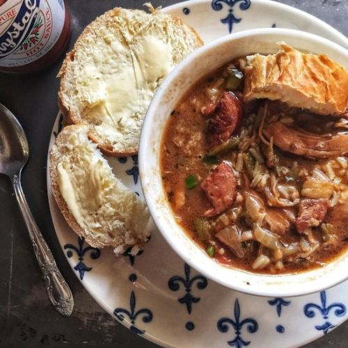 Chicken and Sausage Gumbo with Okra