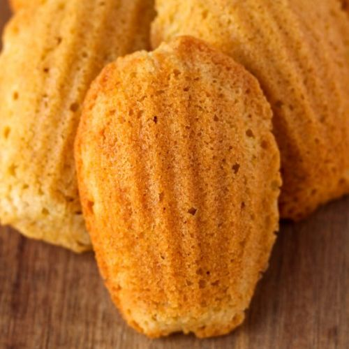 Brown Butter Spiced Pear Madeleines