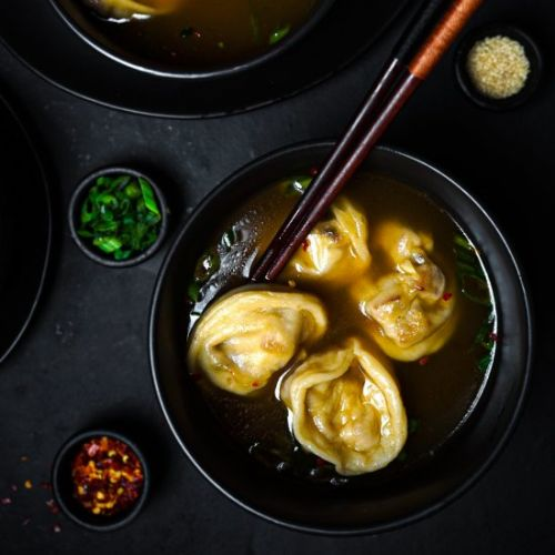 Sweet & Spicy Tofu Wonton Soup