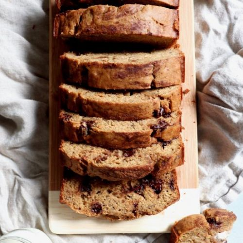 One bowl whole grain banana bread