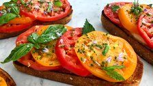 The Tomato Toasts You Have To Make While We're At Peak Tomato Season