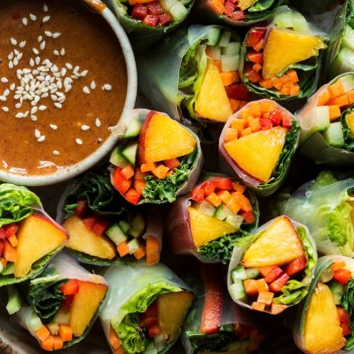 Summer rolls with nectarine