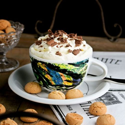 Cup of cappuccino ice cream
