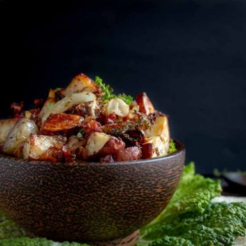 Crispy Red Potatoes and Cabbage