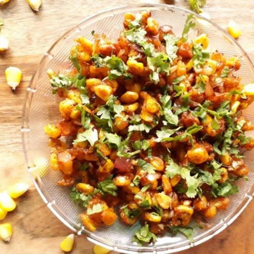 Crispy Corn Chaat
