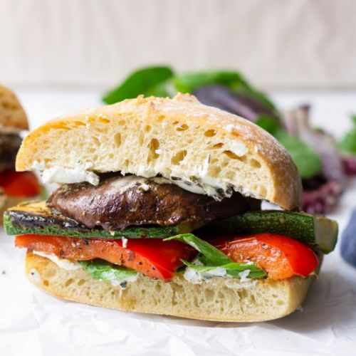 Grilled Vegetable Sandwich with Her