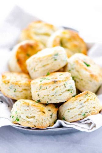 Gluten Free Biscuit Recipe with Garlic and Herbs