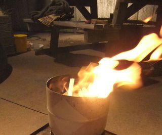 Gas Bottle Fire Pit / Brazier / Barbeque Grill