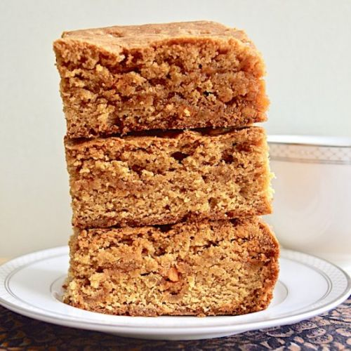 Butterscotch Pudding Blondies
