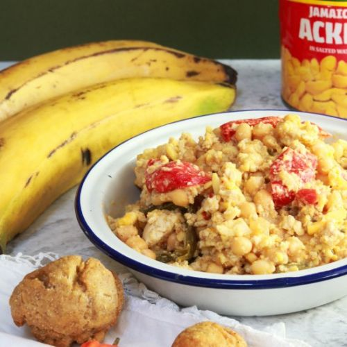 Vegan Ackee and 'Tofish'