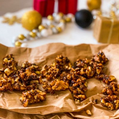 Salty & Spicy Candied Walnuts