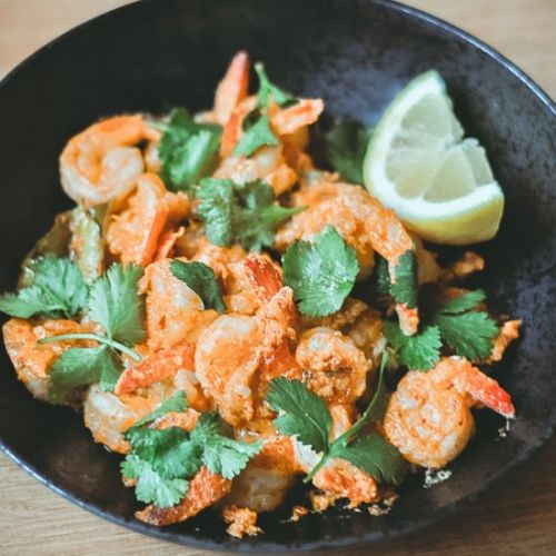 Thai curry garlic butter shrimp