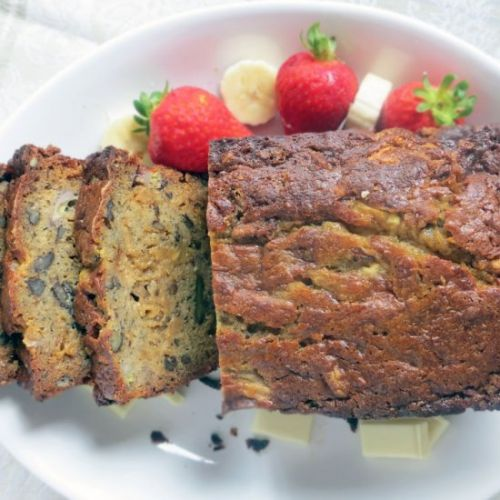 Banana Bread with White Chocolate