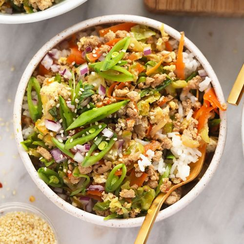 Vibrant Egg Roll in a Bowl