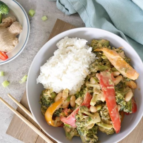 Healthy Vegan Peanut Stir Fry