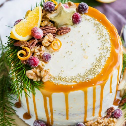 Gingerbread Orange Layer Cake