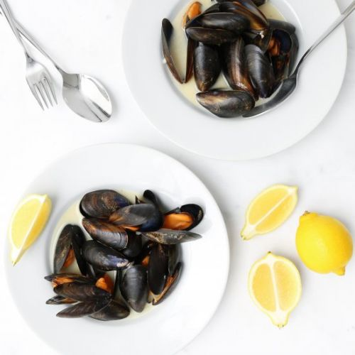 Steamed Mussels in White Wine