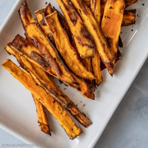 Crispy Air Fried Sweet Potato Fries