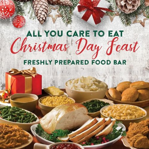 Shoney's Doors Will be Wide Open on Christmas Day, Tuesday, December 25 for a Spectacular All You Care To Eat, Freshly Prepared Christmas Day Feast!