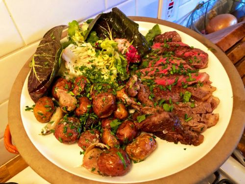 A Summery Steak Dinner