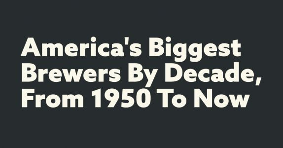 Charted: America's Biggest Brewers by Decade, From 1950 to Now
