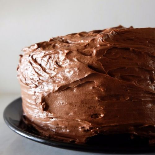 Chocolate Cake with Fudge Frosting